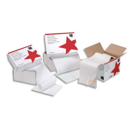 Listing largeur 5 etoiles papier listing papeterie for Fourniture bureau papier