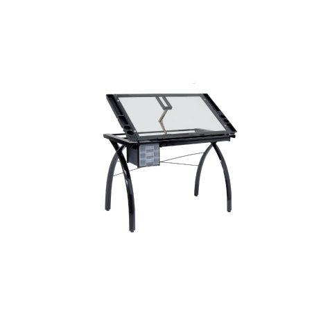table dessin futura black clear tables dessin. Black Bedroom Furniture Sets. Home Design Ideas